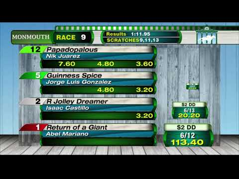 video thumbnail for MONMOUTH PARK 8-25-19 RACE 9