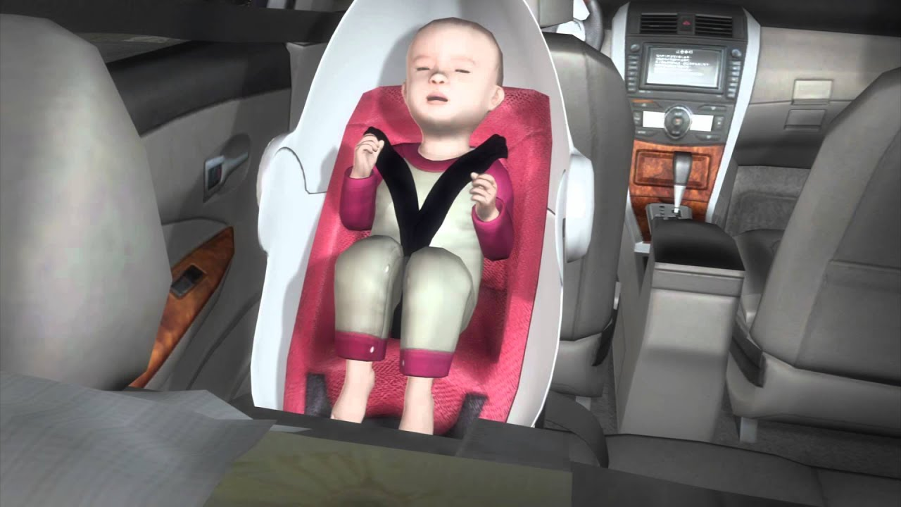 Carkoon: Kevlar car seat envelops child in fireproof cocoon - YouTube