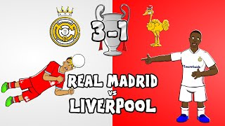 🏆Real Madrid vs Liverpool: the cartoon!🏆 (3-1 Champions League 2021 Vinicius Goals Highlights)