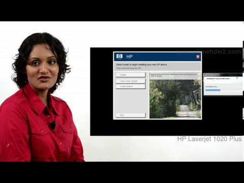 HP LaserJet 1020 Plus - How To Install Drivers
