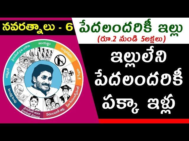 YS Jagan Mohan Reddy's Promises | #Navaratnalu 6 | #Pedalandariki Illu