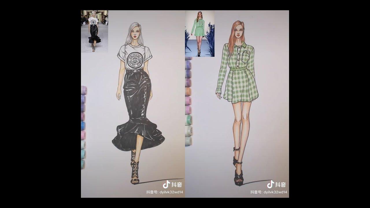 Tik tok🙆🏻♀️❤học vẽ thiết kế thời trang 😘💕💓 | Khái quát những tài liệu liên quan đến vẽ thời trang nữ mới cập nhật