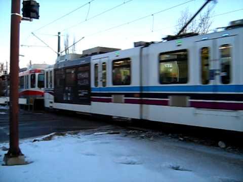 Calgary LRT Passing By