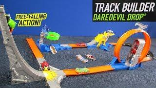 Hot Wheels Track Builder Daredevil Drop Workshop 2013 multi-set track layout