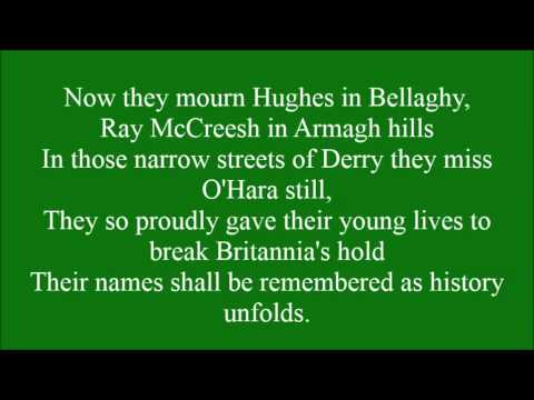 Roll of Honour with lyrics