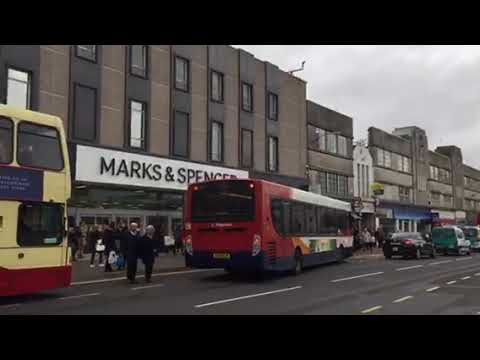 Stagecoach bus route 17 departing Brighton city centre