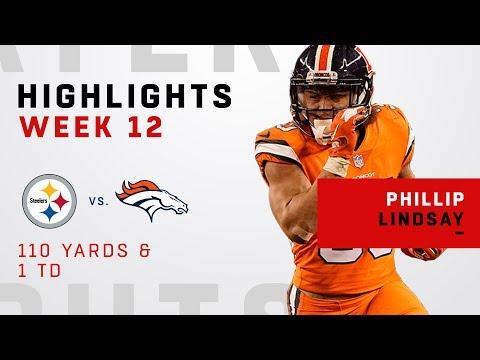 Phillip Lindsay Highlights vs. Steelers