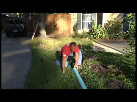 EASY DIY Sub Surface Lawn Drains 1
