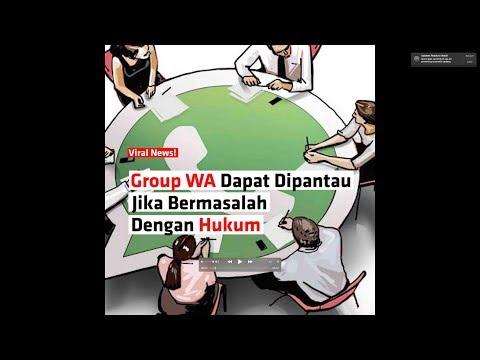Group WA Dapat Dipantau Jika Bermasalah Dengan Hukum
