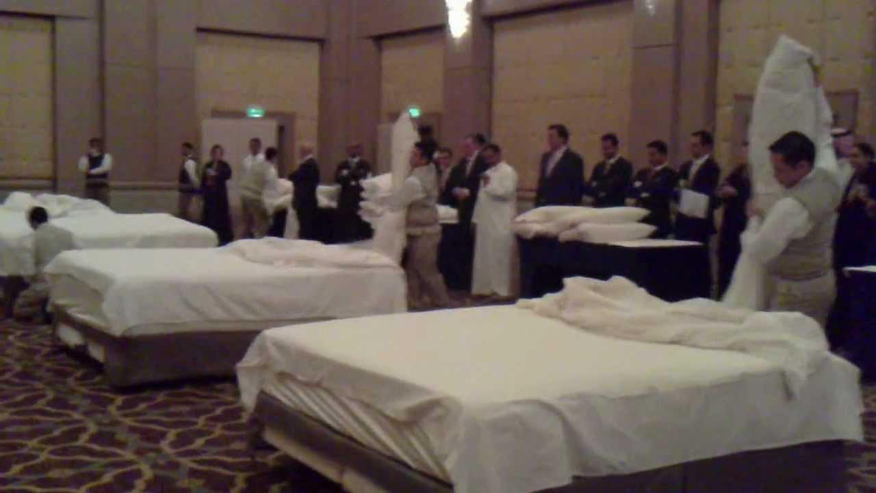 Bed Making Contest Four Seasons Hotel Riyadh Youtube