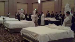 Bed Making Contest Four Seasons Hotel Riyadh