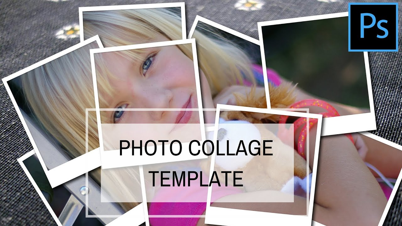 Create a photo collage template in photoshop youtube pronofoot35fo Images