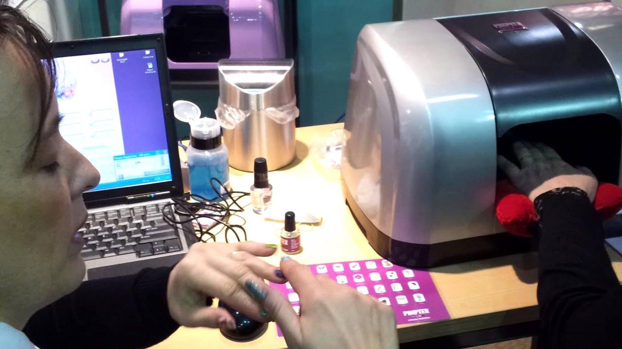 Nagelprinter op Beauty Trade special - YouTube