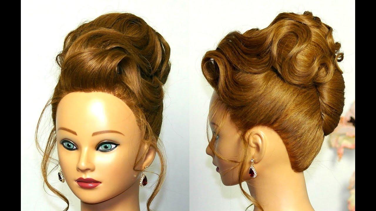 elegant updo. hairstyle medium