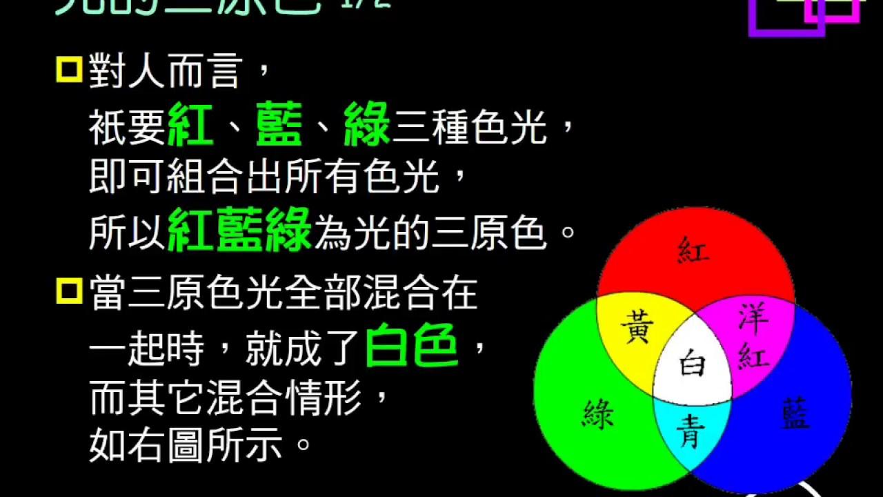106學年複習光23:顏色;光與顏料三原色 - YouTube