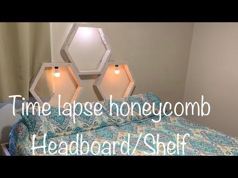 DIY Honeycomb Headboard/Shelf