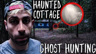 We bought a HAUNTED COTTAGE and went GHOST HUNTING! JUICY GANG HAUNTED COTTAGE GHOST HUNTERS| ALI H
