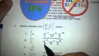 Pangkat-Pembahasan soal UN Matematika IPS 2014 No.4