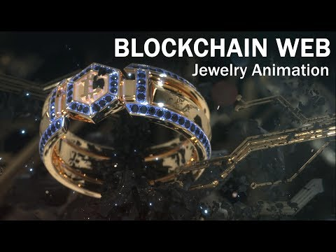 BlockChain WEB - Crypto Jewelry Creative Animation - Render - Visualization