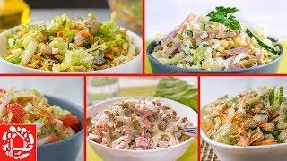 5 Салатов с Пекинской Капустой! Просто и Вкусно!
