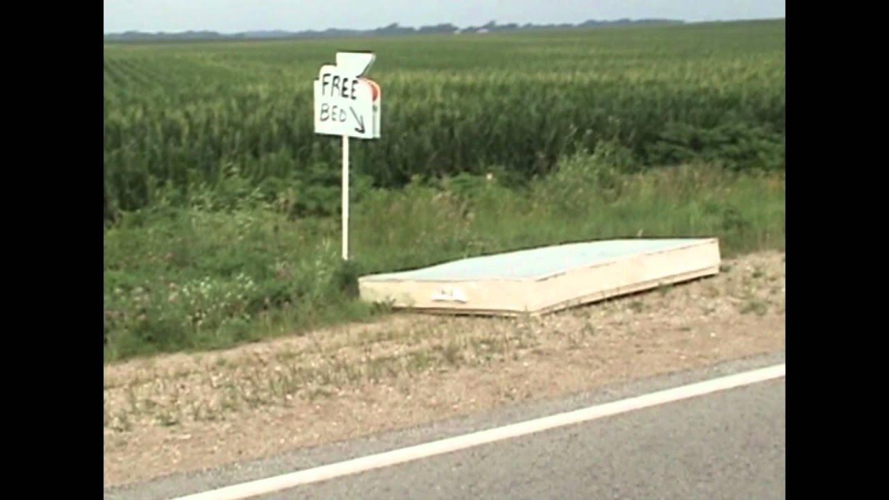 Best Joke Ever Free Bed Along Side The Road In Iowa