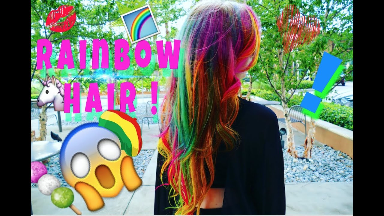 rainbow hair tutorial fall autumn
