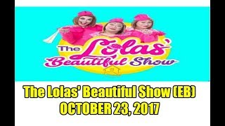 The Lola's Beautiful Show guest: Rodjun Cruz and Dianne Medina - October 23, 2017