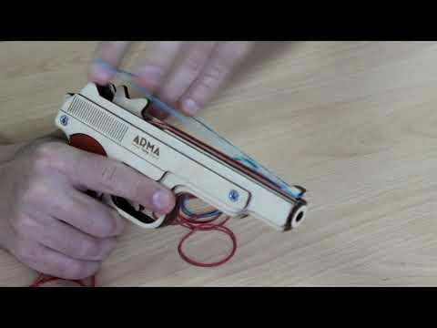 """Обзор деревянного резинкострела """"пистолет Стечкина"""" от компании ARMA"""