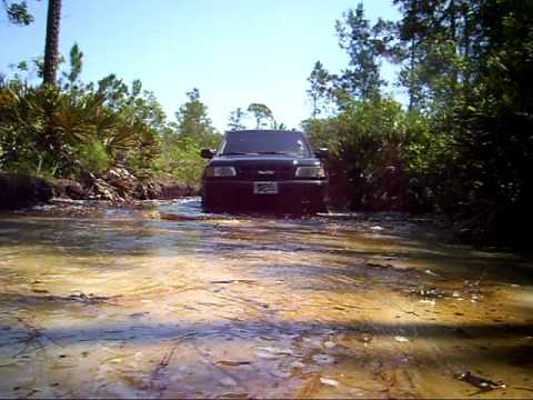 Crossing Swamp Nissan Pathfinder 97 Isuzu Rodeo 2000 In