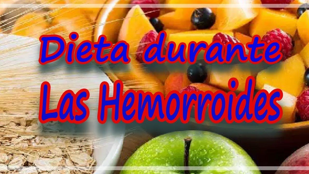 Dieta para curar hemorroides