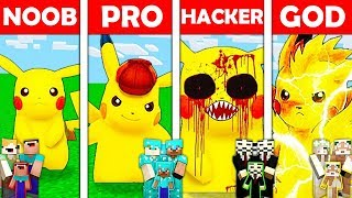 Minecraft NOOB vs PRO vs HACKER vs GOD : FAMILY PIKACHU MUTANT in Minecraft Animation