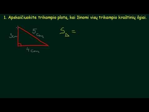 Kaip apskaiciuoti trikampio plota