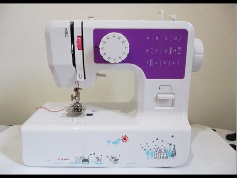Luby Portable Sewing Machine Double Thread Free Arm Best for Beginner and Advanced User Blue 12 Built-in Stitches