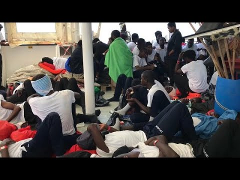 Two Italian ships will escort the Aquarius vessel full of 629 migrants to Spain