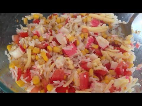 Состав салат с крабовыми
