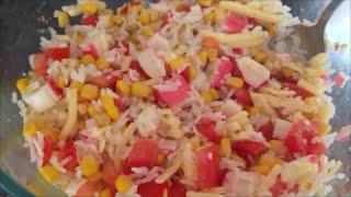 Кулинарный рецепт Салат с крабовыми палочками и сыром