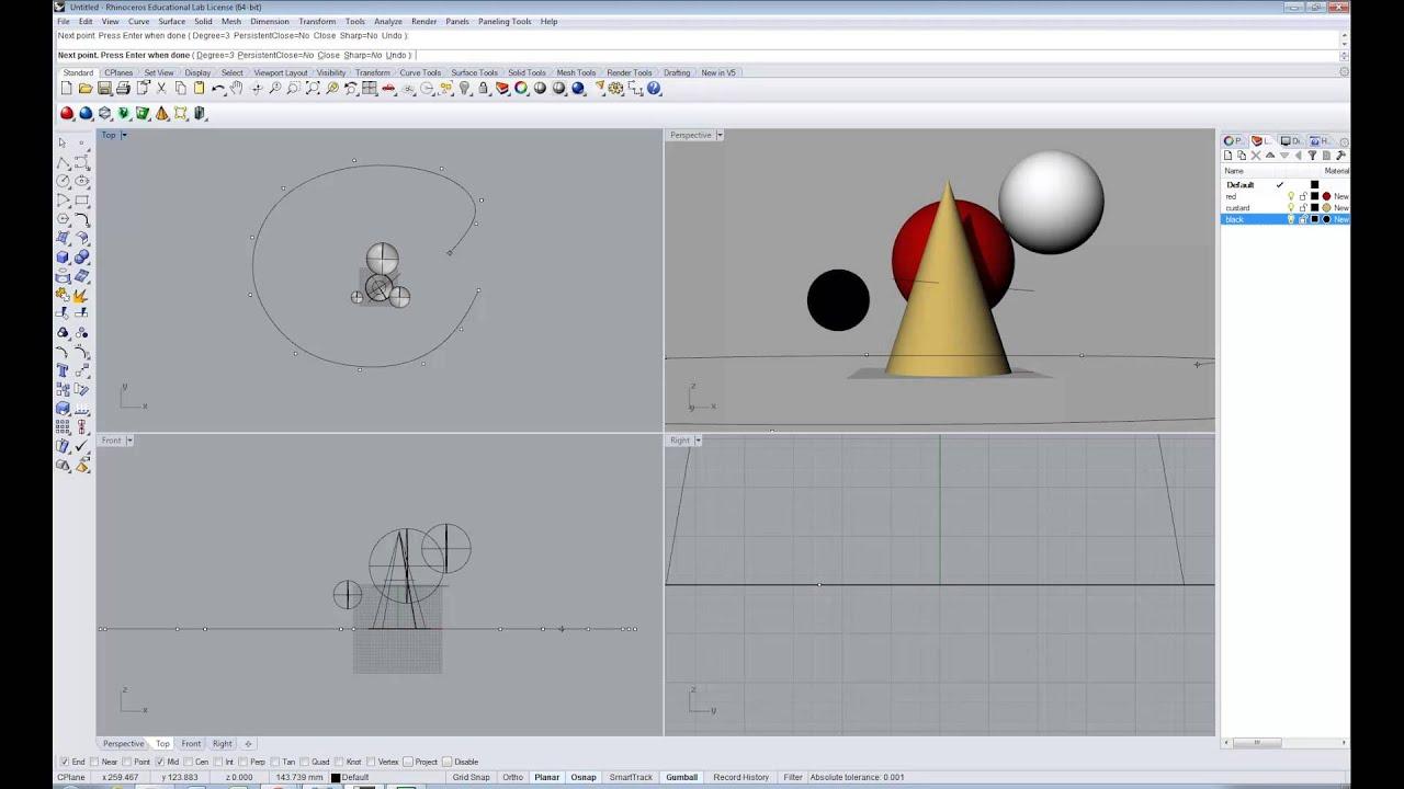 Path Animation in Rhino