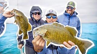 EPIC 💯BASS CHALLENGE! | Lake Michigan Smallmouth Fishing