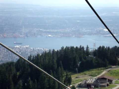 Grouse Mountain, Vancouver-Views from peak