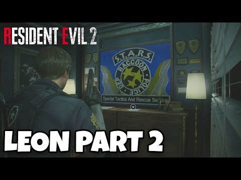 Resident Evil 2 Remake Leon Walkthrough Gameplay Part 2 - The S.T.A.R.S Office Is So AWESOME!