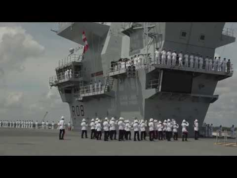HMS QUEEN ELIZABETH Arrives in the United States