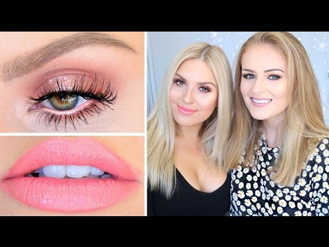Perfect Peach Makeup ♡ Get Ready With Me & Sally Jo!