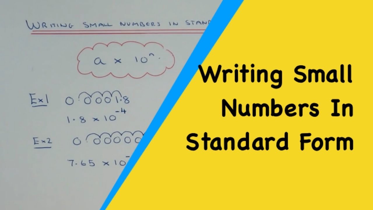 How to quickly convert small numbers into standard index form youtube how to quickly convert small numbers into standard index form falaconquin