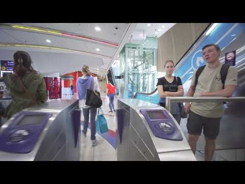 United Arab Emirates, Dubai, metro ride from Mall of the Emirates to First Abu Dhabi Bank