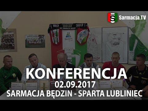 Konferencja po meczu Sarmacja Będzin - Sparta Lubliniec 02.09.2017, IV kolejka