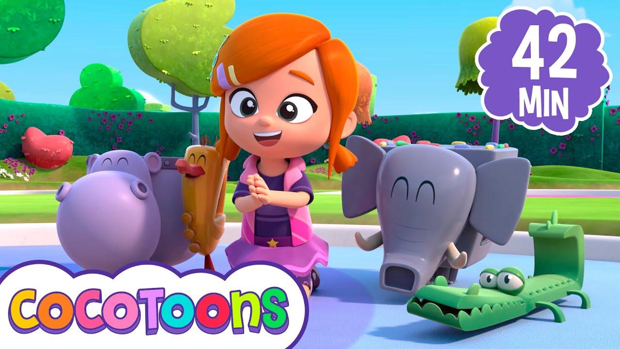 Si te sientes muy feliz y más canciones @Lea y Pop - canciones infantiles en español  | Cocotoons