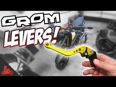 How To: Honda Grom Brake & Clutch Levers (shorty levers!)