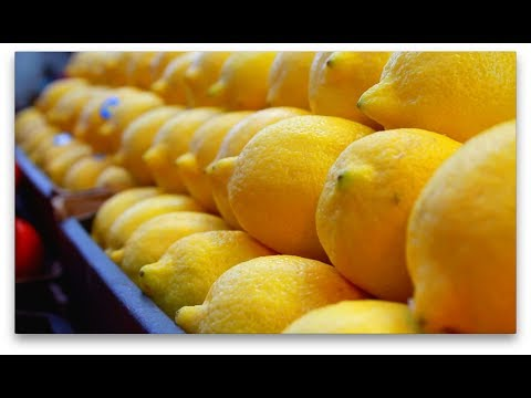 Fresh lemons in a Fruit Market Stall - Free Stock Video Download - Free Stock Video Footage