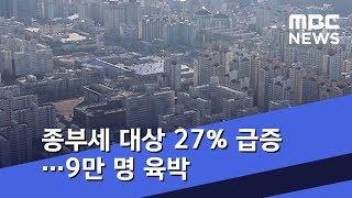 '똘똘한 한 채' 종부세 대상 27% 급증…9만 명 육박 (2018.12.27/5MBC뉴스)
