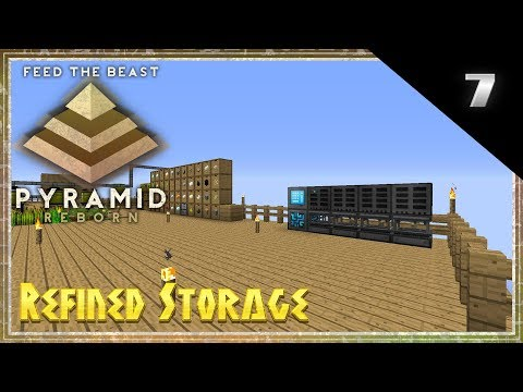FTB Pyramid Reborn Multiplayer Minecraft 1.12.2 Lets Play - Refined Storage (7) Modded Minecraft